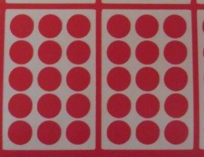 weatherproof vinyl sticky sheets of round dots labels sizes 9-86mm colours 5508