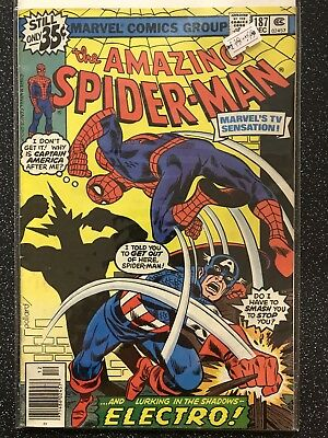 The Amazing Spider-man Issue 187 VF/VF- Bagged & Boarded