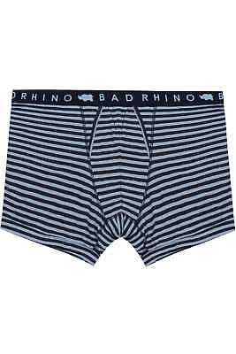Mens Badrhino Blue & Stripe A Front Boxers, Size L To 8xl