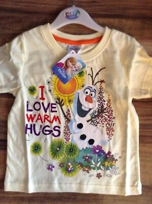girls x store frozen i love warm hugs t shirts just £2.99