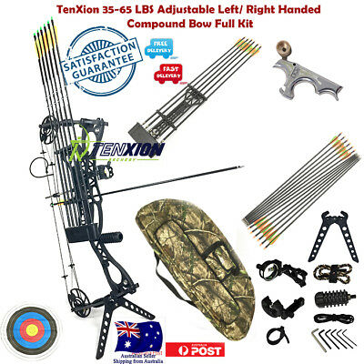 TenXion 35-65LBS Left Right Handed Compound Bow Professional Archery Full Kit