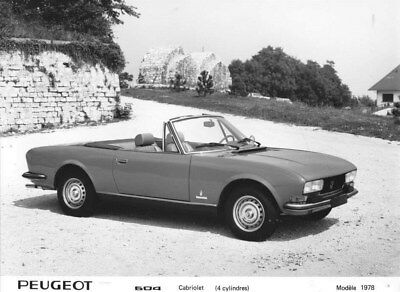 1978 Peugeot 504 Pininfarina Convertible ORIGINAL Factory Photo oua1766