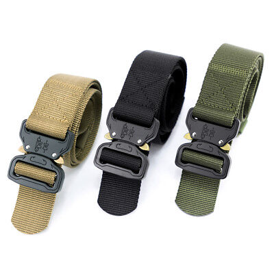 Tactical Belt Heavy Duty Adjustable Web Military Style Belts with Cobra Buckle