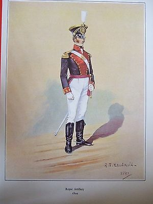 Military Print-Officer  Royal Artillery 1820  By R J Macdonald