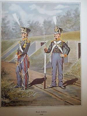 Military Print-Officer And Gunner  Royal  Artillery 1828  By R J Macdonald