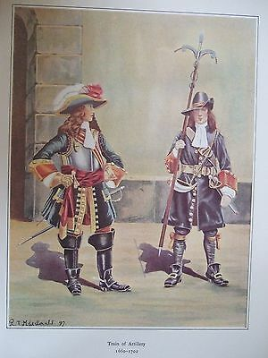 Military Print- Train Of Artillery 1660-1702 By R J Macdonald