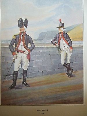 Military Print- Officer And Gunner Royal  Artillery 1794 By R J Macdonald