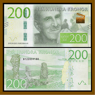 Sweden 200 Kronor, ND 2015 P-72 New Design Unc