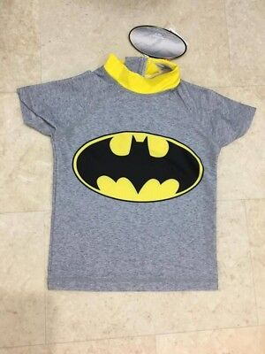 Baby Boys Batman Rash Vest Sun Safe Swim 18-24 Months BNWT Holiday Beach Sea