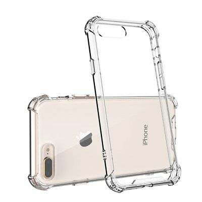 For IPHONE 7 Plus Clear Case Cover Shockproof Protective TPU Bumper