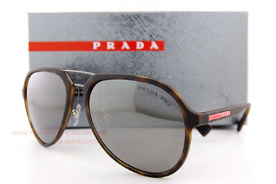84ed4af09f New Prada Sport Sunglasses PS 05RS U61 5K0 Havana Rubber Silver Mirror  Polarized