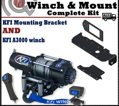 Kfi 2500 Lb Winch Set And UTV Mounting Kit Fits Honda 1000 1000-5 Pioneer 16-18