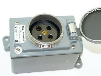Russellstoll 3754 Receptacle 30a 250v 20a 600v Used
