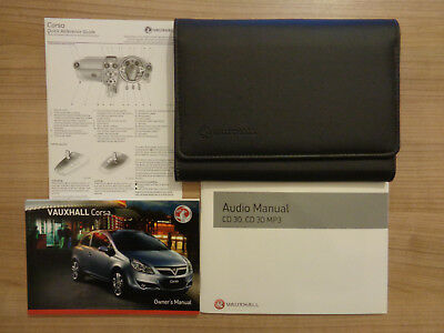 genuine vauxhall corsa d owners manual handbook wallet audio cd 2006 rh picclick co uk 2009 Vauxhall Corsa 2016 Vauxhall Corsa