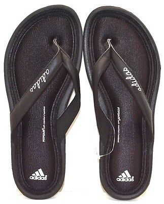 e1514ff70cbc04 Adidas Fitfoam Thong Attack Flip-Flops M22808 Black US Size 5 FREE SHIPPING  NEW