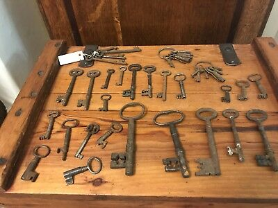 Huge Lot Of Antique Large Church Key Keys And Others
