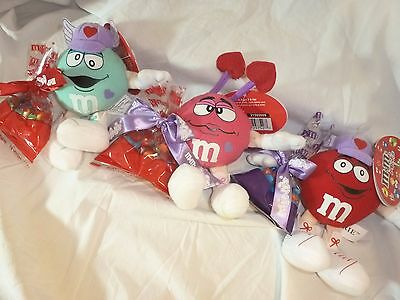 M & M Mini Valentine Plush GALERIE with Candy 2005 FREE SHIPPING