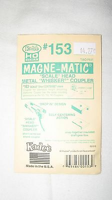 Kadee #153 HO Magne-Matic Scale Whisker Couplers 2-pair W/Draftgear Boxes
