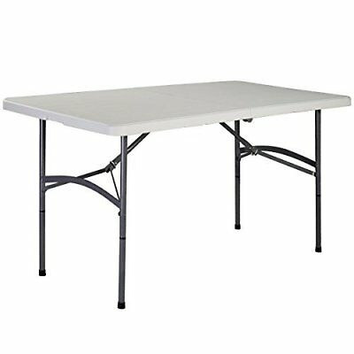 5' Folding Table Portable Plastic Indoor Outdoor Picnic Party Dining Camp Tables