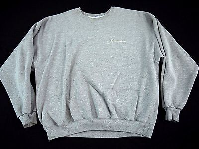 VINTAGE 90s spell out Champion brand gray sweatshirt mens script MADE IN USA