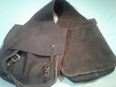 Antique Leather Saddle Bags Functional need some TLC