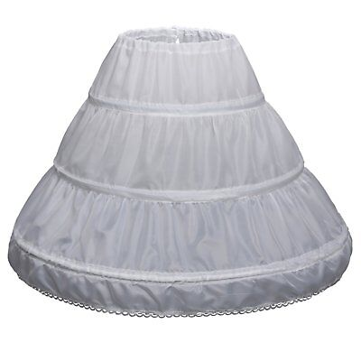 Carat Girls 3 Hoops Petticoat Full Slip Flower Girl Crinoline Skirt 2-6 yrs,