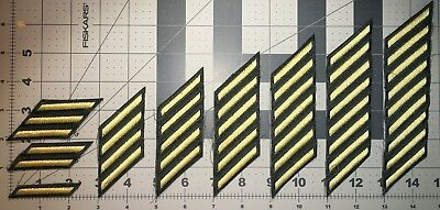 Us Army Class A Hash Marks Male Service Stripes Gold Embroidered On Gren New(B5)