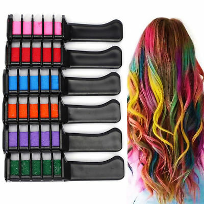 Temporary Hair Chalk Color Comb Dye Kits Disposable Cosplay Party Hairs Dyeing