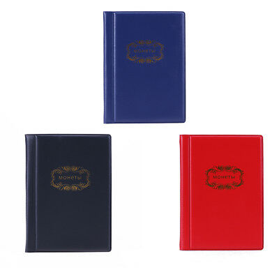 UN3F 120 Coin Storage Penny Pockets Money Album Book Collecting Coin Holders