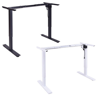 New 240V Electric Large Height Home Office Adjustable Sit Stand Computer Pc Desk