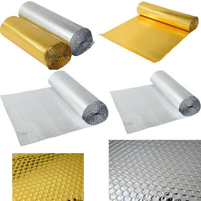 Biard Double Wrap Aluminium Single Bubble Foil Insulation Roll Gold Silver UK