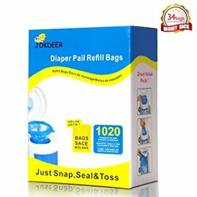 Diaper Pail Refill Bags (1020 Counts) Fully Compatible with Arm&Hammer