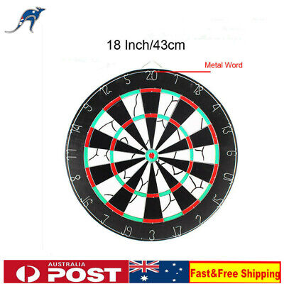 "18"" 45cm Two Side Printing Dart Board & 6 Darts Steel wire inlay durable games"