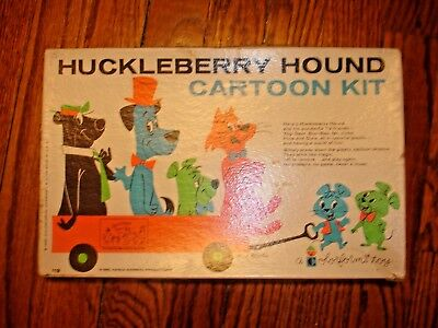 Colorforms Huckleberry Hound Cartoon Kit Original Box vintage game vinyl playset