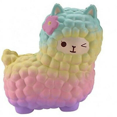 12cm Jumbo Sheep Squishy Cute Alpaca Galaxy Super Slow Rising Scented Animal Toy