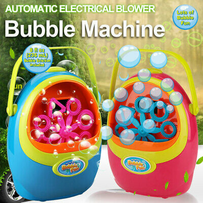 Automatic Bubble Blower Blowing Electrical Maker Machine + Solution Party Effect
