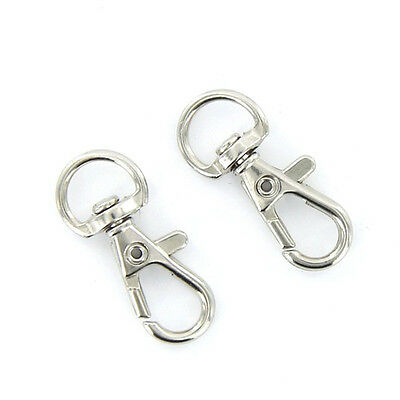10PCS Lobster Clasps Swivel Trigger Clips Snap Hooks Bag Keychains Key Rings