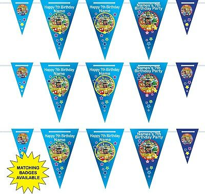 Personalised Grossery Gang Birthday Bunting 3m-15 pendants, name/age