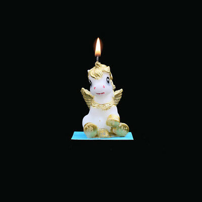 Hot 3D Unicorn Candles Kids Supplies Theme Party Cake Topper Decoration Candles