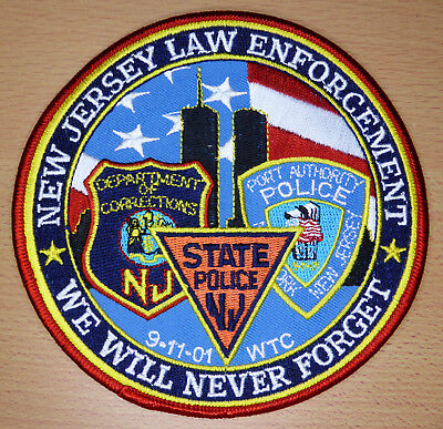 Memorial Patch - NEW JERSEY LAW ENFORCEMENT - 9-11-01 WTC - Selten - Rare