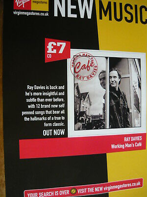 Ray Davies (The Kinks) - Magazine Cutting (Full Page Advert) (Ref Z10)