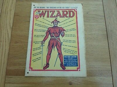 1939 No 870 THE WIZARD COMIC ORIGINAL COMPLETE GOOD CONDITION