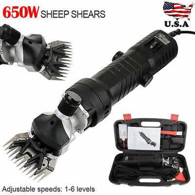 650W Farm Supplies Electric Sheep Shears Goat Clippers Animal Fur Shave Grooming