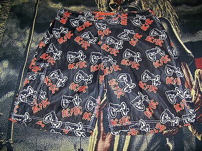 NEW Vintage AC/DC Music Band Dragonfly Swim Suit Board Shorts Surf Trunks Sz 36