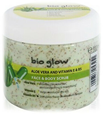 Bio Glow Aloe Vera Body Scrub Vitamin E & B5 UV Protection - 300ML -