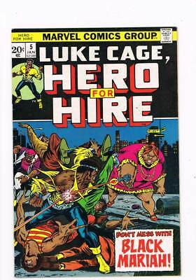 Luke Cage Hero for Hire # 5  Mess with Black Mariah grade 8.5 scarce book !!