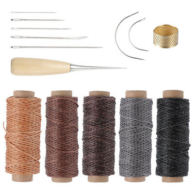 14 tlg Leder Werkzeug Stitching Craft Hand Sewing Stitching Groover DIY Kit Sets