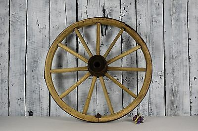 Antique wheel / Old wooden wheel of the cart / Round wall hanging / Home decor