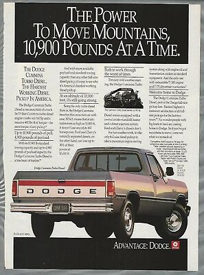 1991 DODGE Cummins Diesel Pickup advertisement, Dodge ad, Cummins Turbo Diesel