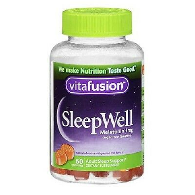 Vitafusion Sleep Well Gummy 60ct Sleep Support in a Tasty, Sugar-Free